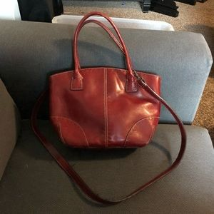 Red Fossil Crossbody purse